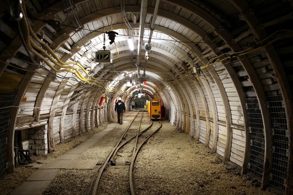 Część podziemna - trasa kolejki Karlik<p alt=